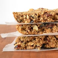 Yummy and healthy peanut butter granola bars.  Perfect for anyone on the go(or even someone who isn't) and way better than store bought