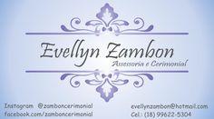EVELLYN ZAMBON Assessoria e Cerimonial, parceira da nossa 3ª  Feijoada Light.