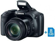"""Câmera Digital Canon PowerShot SX520 HS 16MP - Semiprofissional Visor 3"""" Cartão 8GB"""