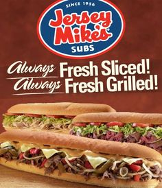 Free Chips and Drink at Jersey Mike's with Purchase!