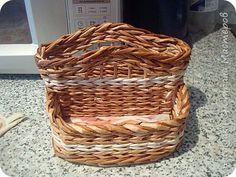 Поделка изделие Плетение Салфетницы в подарок и для себя Бумага журнальная Трубочки бумажные фото 8
