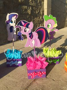 My Little Pony Birthday Party Centerpiece Favors by FalconArte