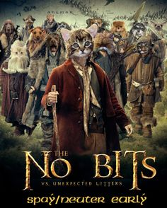 The #Hobbit is the #1 movie at the box office. We think our version is better. #spay #neuter