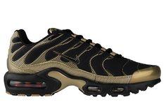watch f93b6 1f5b8 Nike Air Max Plus BlackGoldWoven Running Sneakers, Sneakers Nike,