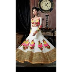 Indian Women's wear online store for bridal wear, designer salwar kameez, wedding lehengas, indowestern outfits Designer Anarkali, Indian Dresses, Designer Wear, Salwar Kameez, Floral Design, Ready To Wear, How To Wear, Collection, Indian Gowns