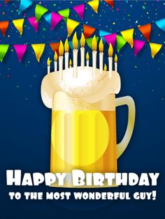 Send Free Golden Sparkle Happy Birthday Card to Loved Ones on Birthday & Greeting Cards by Davia. It's free, and you also can use your own customized birthday calendar and birthday reminders. Happy Birthday 1, Funny Birthday Cakes, Teacher Birthday Gifts, Birthday Wishes For Him, Birthday Quotes For Him, Birthday Party Tables, Birthday Blessings, Birthday Gifts For Girlfriend, Happy Birthday Images
