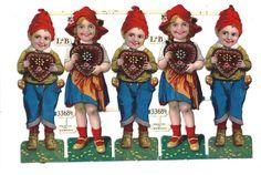 Alter Bogen Glanzbilder Oblaten Hänsel und Gretel von L&B 33684 top!!