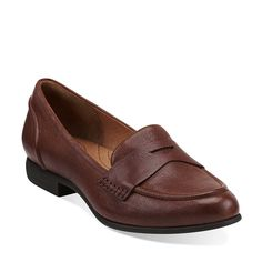 I think I could actually wear loafers... maybe...Charlie Penny in Cognac Leather - Womens Shoes from Clarks