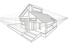 architecture house drawing perspective Linear Architectural Sketch Detached House Stock Vector - Illustration of detached, modern: 75519377 Interior Architecture Drawing, Architecture Drawing Sketchbooks, Architecture Concept Drawings, Interior Design Sketches, Cultural Architecture, Timeline Architecture, Architecture Design, Architecture Wallpaper, Victorian Architecture