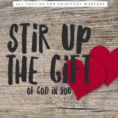 Spiritual Warfare Tactic 30 ••Stir Up the Gift of God in You•• Wherefore I put thee in remembrance that thou stir up the gift of God, which… Stir Up The Gift, Spiritual Warfare, Nerd, Spirituality, Bible, Gifts, Instagram, Biblia, Presents