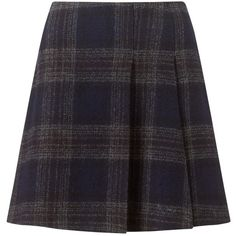 Jigsaw Moon Check Mini Skirt, Navy (180 CAD) ❤ liked on Polyvore featuring skirts, mini skirts, navy blue pleated skirt, flare skirt, pleated skirt, navy skirt and checkered skirt