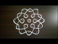 Simple and Small Rangoli Designs with 5 to 3 Dots. SS Rangoli - Video No 207 Rangoli Patterns, Rangoli Kolam Designs, Rangoli Designs Images, Rangoli Designs With Dots, Kolam Rangoli, Rangoli With Dots, Beautiful Rangoli Designs, Simple Rangoli, Hand Embroidery Flowers