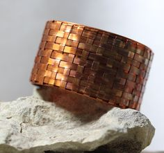 Woven Copper Cuff by IronMountainArts on Etsy