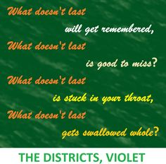 the districts, violet