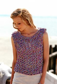 Free Pattern! Lacy Top knitted in Rico Essentials Crochet