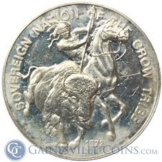 Sovereign Nation Of The Crow Tribe Silver Art Round (.80 oz of Silver) http://www.gainesvillecoins.com/submenu/405/silver-rounds-and-bars.aspx