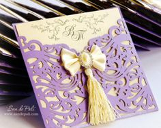 Wedding Luxery Envelope Card Template swirl by EasyCutPrintPD                                                                                                                                                                                 Mais