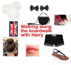 """Walking along The Boardwalk with"" by one-direction-outfits1 ❤ liked on Polyvore"