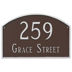 Montague Metal Products Prestige 2-Line Wall Address Plaque Finish: