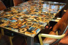 Print Block Table cast in resin.