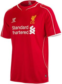 Warrior Liverpool Home Jersey Main body fabric recycled S-Caf® polyester, polyester panels and trim. Fully embroidered Warrior logo and LFC crest Liverpool Football Kit, Liverpool Fc Home, Football Kits, Home T Shirts, Team Shirts, Premier League, Jersey Atletico Madrid, Soccer Shop, Outfit