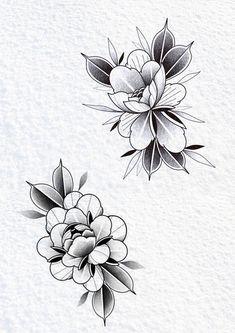 Art Studios, Blackwork, Tattoo Designs, Design Inspiration, Tattoos, Flowers, Roses, Tatuajes, Tattoo