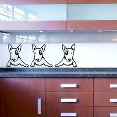 Dog Decal Bull Terrier Toddler Vinyl Sticker Decal  Good for