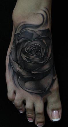 Black Rose Tattoo   Mike Demasi - Black and Gray Rose Tattoo