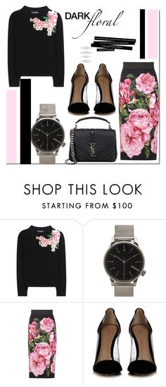 """""""Dark Florals in Dolce & Gabbana..."""" by nfabjoy ❤ liked on Polyvore featuring Dolce&Gabbana, Komono, Gianvito Rossi, Yves Saint Laurent and darkflorals"""