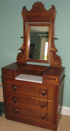Eastlake Victorian Dresser Late 1800s Adjustable Mirror