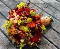 Fall Wedding Bouquets with Sunflowers   fall wedding flowers autumn flowers sunflowers   Flowers and Arrangem ...