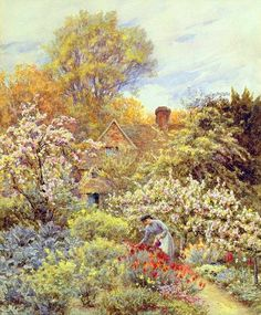 A Garden in Spring ~ Helen Allingham ~ (English: 1848-1926)