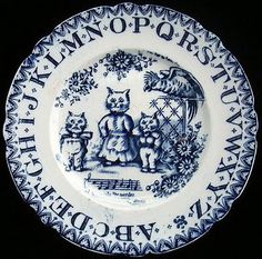 Blue And White ABC Plate
