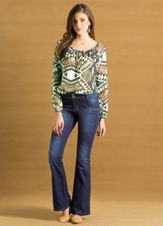 Calça Flare Jeans - Posthaus