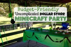 Budget-friendly Minecraft Party! (with gift ideas, links to printables, and themed snacks)