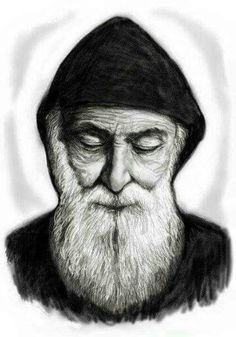 St Charbel Realistic Pencil Drawings, Art Drawings, Santa Bernadette, Mother In Heaven, St Charbel, Linear Art, Religious Photos, Juan Pablo Ii, Modern Church