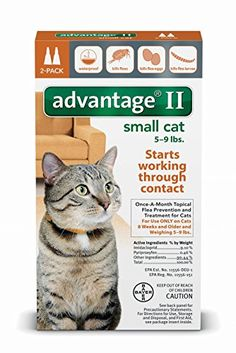 Advantage II for Small Cats (5 - 9 lbs, 2 Months Supply) * Check this useful article by going to the link at the image. #CatFleaandTickControl