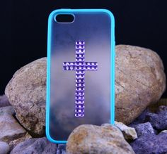 Iphone 5 Case, Studded Crossing Iphone 5 Case, Studded iPhone 5 Case with Sliver Studs