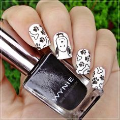 Details here: https://insane-nails.blogspot.hr/2016/09/snoopy-nails.html - Nailpolis: Museum of Nail Art                                                                                                                                                                                 More