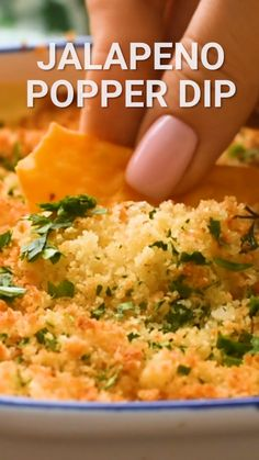 Dec 2019 - Quick and Easy Jalapeno Popper Dip is the perfect appetizer recipe for all of your parties! A cheesy dip with a kick from jalapenos and topped with a crunchy bread crumb mixture. Grab your chips, crackers and vegetables and dig in! Best Appetizer Recipes, Quick And Easy Appetizers, Finger Food Appetizers, Best Appetizers, Appetizer Dips, Mexican Food Recipes, Dip Recipes, Vegetable Appetizers, Veggie Food