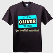 Create your own personalized OLIVER T Shirt using our online designer. No minimum order.