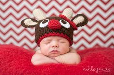 Reindeer Hat Pattern for all ages, Sell what you make. $3.99, via Etsy.