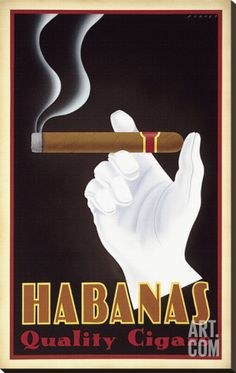 Habanas Quality Cigars Stretched Canvas Print