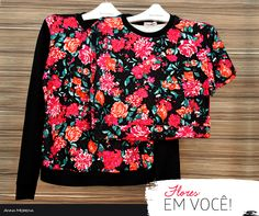 Anna Morena | Fall Winter Lookbook 2014 | Lookbook Outono Inverno 2014 | moletom estampado; cropped estampado; floral; moda feminina; trend.
