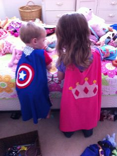 Dress up Etsy listing at http://www.etsy.com/listing/151216771/kids-dress-up-capes