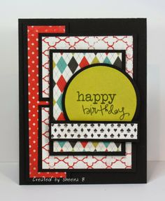 #handmade #masculine #birthday #card featuring stamps from @Vanessa Samurio Jacky-Davis Stamps and patterned papers from #cartabella