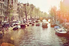 Amsterdam--spent a day here when I was 14 on a layover from a missions trip to Egypt.  We rode the boats through the canal.  So fun!