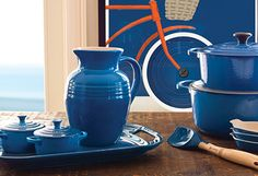 Le Creuset's recently relaunched hue, Marseille, pays homage to its French heritage. Named after the seaside city, it features blue shades that minic the Mediterranean Sea. Great cookware.