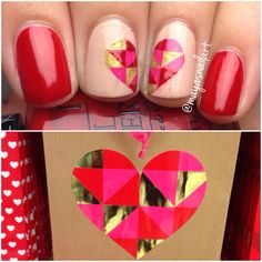 Valentines Day Nail Art by me! @mayasnailart (ig)