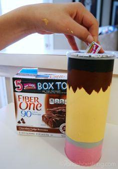 DIY Box Tops for Education collection canister; easy craft for kids; back to school craft